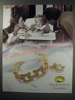 1991 Monet Jewelry Ad - The beautiful endures