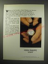 1991 Patek Philippe Watch Ad - When you first handle a Patek Philippe