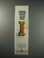 1991 Cycle Biscuits Ad - A tasty new way to get Advanced Nutrition