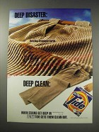 1991 Ultra Tide Detergent Ad - Deep disaster: ketchup crammed cords.