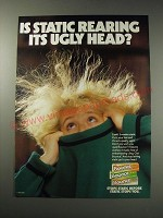 1991 Bounce Static Sheets Ad - Is static rearing its ugly head?