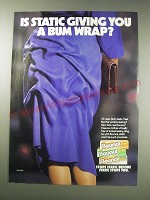 1991 Bounce Static Sheets Ad - Is static giving you a bum wrap?