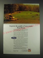 1991 Ford Power Products Ad - Improve the quality of  your power. Ford Power.