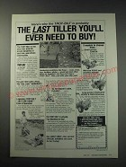 1991 Troy-Bilt Tiller Ad - The Last Tiller you'll ever need to buy