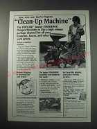 1991 Troy-Bilt Junior Tomahawk Chipper/Shredder Ad - property clean-up