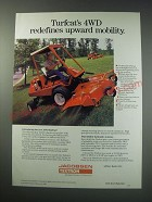 1991 Jacobsen 4WD Turfcat T422D Mower Ad - 4WD redefines upward mobility