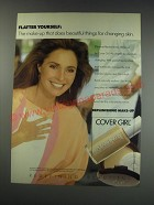 1991 Cover Girl Replenishing Liquid Make-up Ad - Jennifer O'Neill