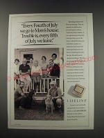 1991 Lifeline Service Ad - Every Fourth of July we go to Mom's house.
