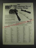 1991 Burris Scopes Ad - The American way of seeing things