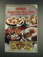 1991 Nestle Chocolate Ad - Nestle Bakes the very best and saves you money too!