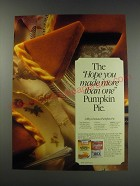 1991 Libby's Pumpkin and Carnation Evaporated Milk Ad