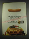 1991 Kraft Cheez Whiz Ad - Quickly turn an ordinary dog into man's best friend