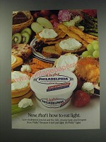 1991 Kraft Light Philadelphia Cream Cheese Ad - Now, thatÕs how to eat light