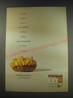 1991 Ore-Ida Twice Baked Potatoes Ad - Crispy creamy mmm real potato cheesy