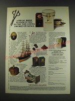 1991 Gevalia Kaffe Coffee Ad - A regal bribe to induce you to try the coffee