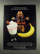 1991 National Dairy Board Ad - Surprise! A cup of yogurt has more potassium
