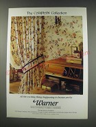 1991 Warner Wallcoverings, Fabrics and Borders Ad - The Caspian Collection