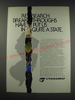 1991 Cyanamid Agricultural Research Division Ad - Research breakthroughs