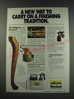 1991 Wagner FineCoat Finishing System Ad - A new way to carry on a tradition