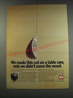 1991 ShopSmith 2000 Table Saw Ad - We made this cut on a table saw