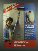 1991 Sears Paint Stick Ad - Just fill it up And paint