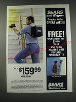 1991 Sears Wagner Model 15593 paint Spray gun Ad