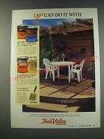 1991 True Value Woodsman Stains Ad - You can do it