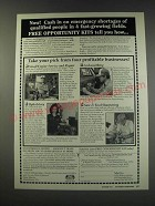 1991 Foley-Belsaw Institute Ad - Now! Cash in on emergency shortages
