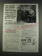 1991 Foley-Belsaw Co. Ad - Now you can have lifetime security