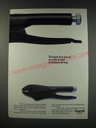 1991 Crescent Locking Pliers Ad - The release lever you can use with one hand