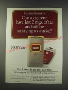 1991 Now Cigarettes Ad - Carlton Smokers: Can a cigarette have just 2 mgs.