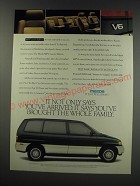 1991 Mazda MPV Luxury Edition Ad - It not only says you've arrived