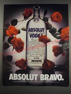 1991 Absolut Vodka Ad - Absolut Bravo