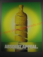 1991 Absolut Vodka Ad - Absolut Appeal