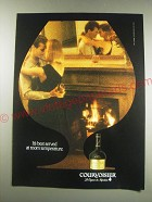 1991 Courvoisier Cognac Ad - It's best served at room temperature