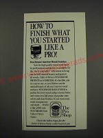 1990 Fuller O'Brien Paint Ad - How to finish what you started like a pro!