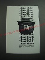 1989 U.S. Forest Service Ad - Smokey the Bear - Think Think