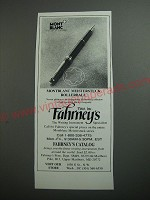 1989 Fahrney's Pens Montblanc Meisterstuck Rollerball Pen Ad