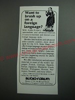 1989 Audio-Forum Language Courses Ad - Want to brush up on a foreign language?