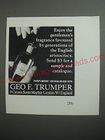 1989 Geo. F. Trumper Perfume Ad - Enjoy the gentlemen's fragrance