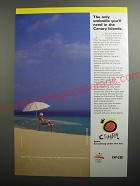 1991 Spanish Tourism Ad - The only umbrella you'll need in the Canary Islands