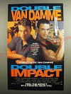 1991 Double Impact Movie Ad - Double Van Damme