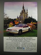 1991 National Car Rental Ad - We're proud of our exclusive association