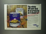 1991 Wolman RainCoat Water Repellent Ad - will your deck be as protected