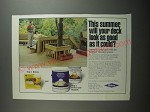 1991 Wolman Deck Brightener and RainCoat Water Repellent Ad - This summer
