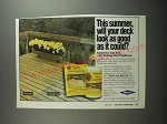 1991 Wolman Deck Brightener Ad - This summer, will your deck look as good
