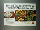 1991 Tabasco Pepper Sauce Ad - How much Tabasco sauce does it take to make