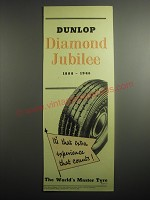 1948 Dunlop Tires Ad - Dunlop Diamond Jubilee 1888-1948 Years Ahead
