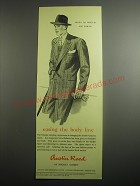 1948 Austin Reed Double-Breasted Suit Ad - easing the body line