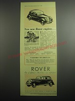 1948 Rover Sixty and Seventy-Five Cars Ad - Two new Rover engines